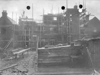 Queens Road: Construction of Wimbledon Fire Station