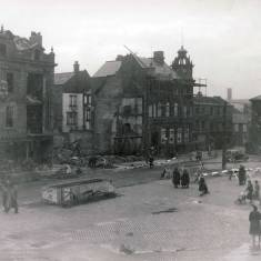 Bomb Damage in the Market Place