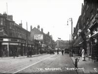 Broadway, Wimbledon: Gladstone Road on the left