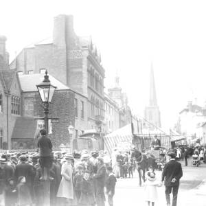 The May Fair in Broad Street, Hereford.