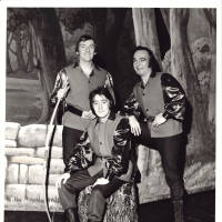 Photograph - unknown performers on stage set
