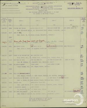 Grave Insciption Document for  Alexander Charles Smith