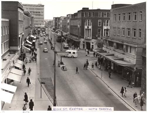 Exeter High Street, 1972, Exeter