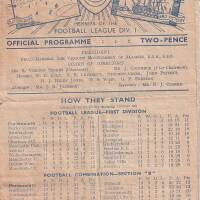19481009 Official Programme Southend United Home FC