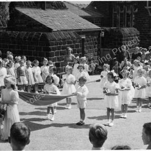 May Queen Parade Grenoside Junior & Infant School Early 1950's 05.