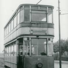 Tram car 41 at Ridgeway