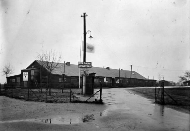 YMCA hut exterior, military camp on Wimbledon Common