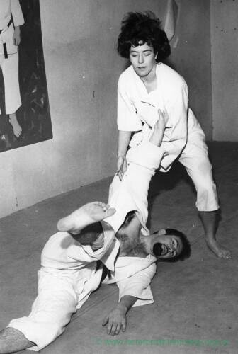 A judo bout.