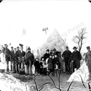 Snow House At Grenoside 1893