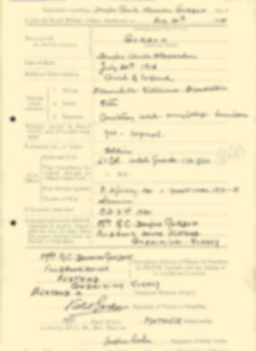 RMC Form 18A Personal Detail Sheets Aug 1935 Intake - page 84