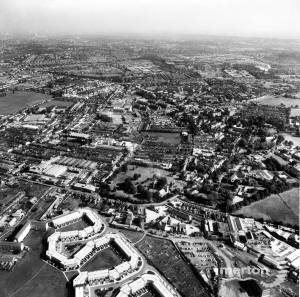 Locomotors Estate, Mitcham:  Aerial View