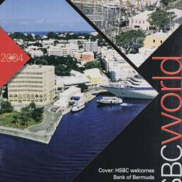 Front page from 'HSBC World' in April 2004 announcing the acquisition of the Bank of Bermuda