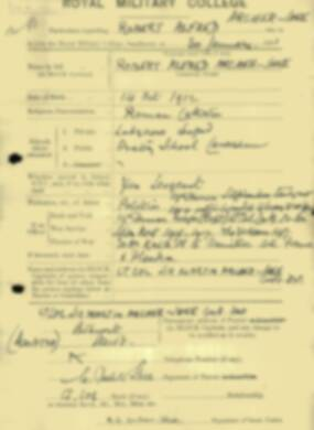 RMC Form 18A Personal Detail Sheets Jan & Aug 1931 Intake - page 4