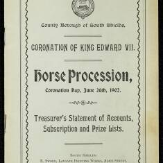 Coronation Day Horse Procession Treasurer's Statement of Accounts