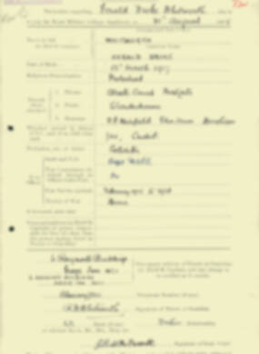 RMC Form 18A Personal Detail Sheets Aug 1935 Intake - page 218