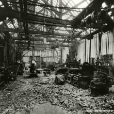 Bomb Damage to John Readheads Ship Yard.