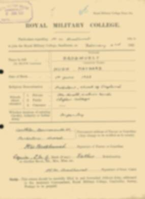 RMC Form 18A Personal Detail Sheets Feb & Sept 1922 Intake - page 14