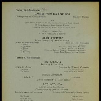 Arts Theatre Club, London, September–October 1940