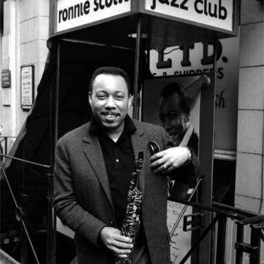 Lucky Thompson  outside Ronnie  Scott's