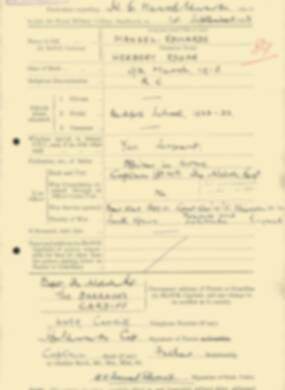 RMC Form 18A Personal Detail Sheets Feb & Sept 1933 Intake - page 249