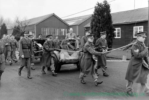 Retirement ceremony at Bradbury lines, 1956