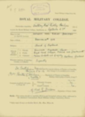 Anthony Boileau -  RMC Form 18A Personal Detail Sheets Jan & Sept 1920 Intake