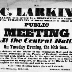 Public Meeting in Defence of the Working Man