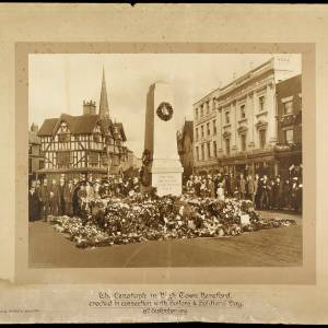 Cenotaph in High Town, Hereford, September 1919