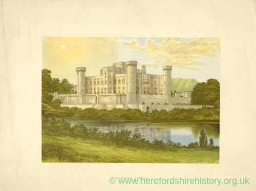 Eastnor Castle, Herefordshire, colour print