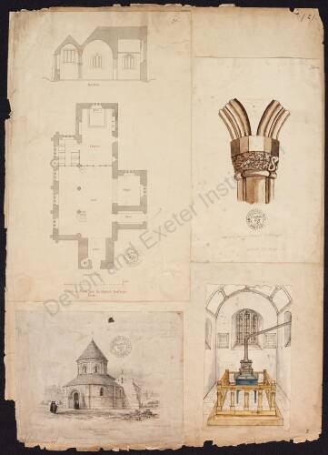 Plans and drawings of churches, various locations