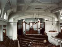 Interior of Southfields Methodist Church
