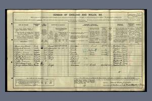 1911 Census for 97 Richmond Park Road, Kingston upon Thames