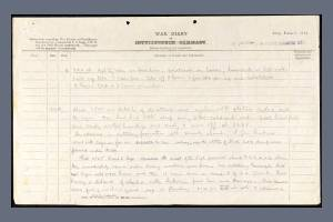 War Diary Record for 1/4 Battalion, York and Lancaster Regiment on 13 October 1918