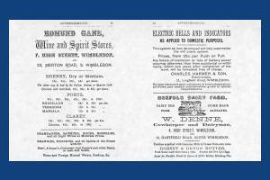 Adverts from Trim's Directory, Wimbledon