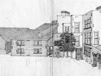 Durham House, Mitcham: Rear view