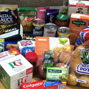 "Food package provided by Herefordshire Council for residents who are ""shielded"""