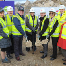 2019 03  March All Saints View Ground Breaking Ceremony Houghton Regis