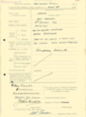 RMC Form 18A Personal Detail Sheets Aug 1935 Intake - page 85