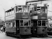 Trams at the Wimbledon Terminus near the town hall
