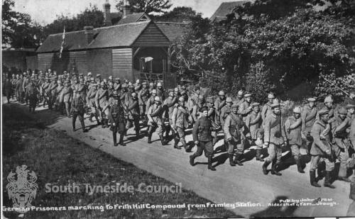 German Prisoners marching to Frith Hill Compound in Surrey