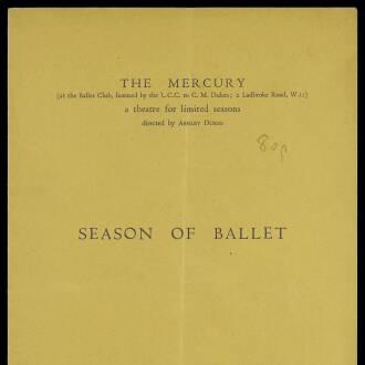Mercury Theatre, London, May–June 1934