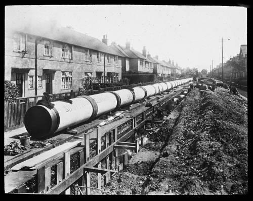 """42"""" steel main near Earlsfield Station"""