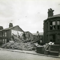 Cowper Street, bomb damage, Blitz