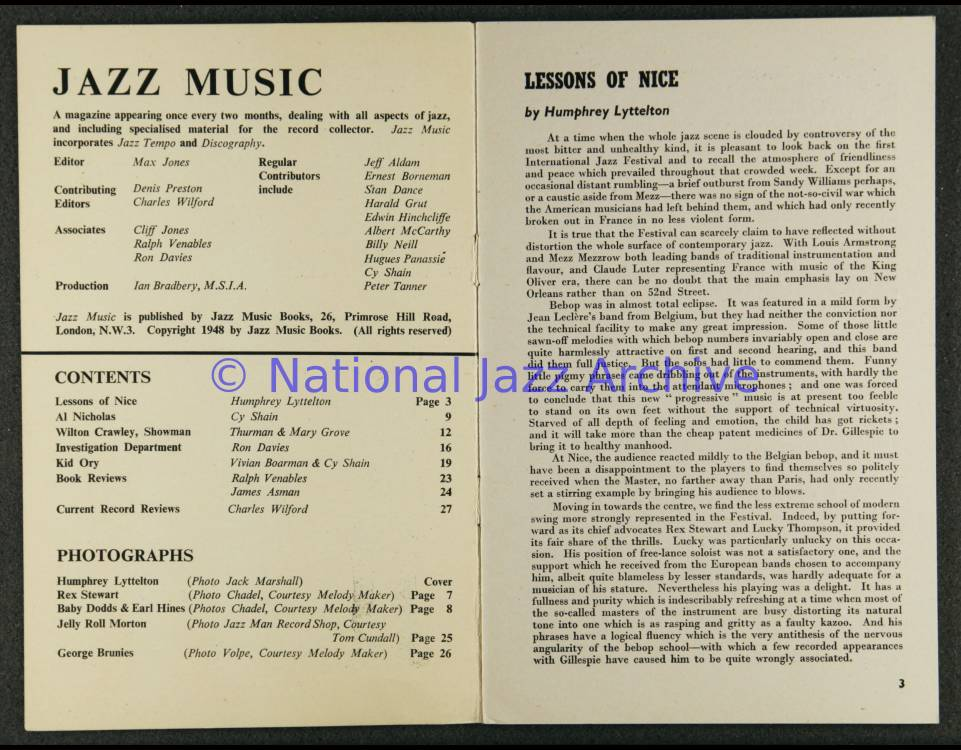 Jazz Music Vol 3 No 8 1948 0001 - National Jazz Archive