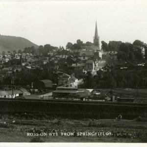 RGE056 - Ross-on-Wye, from Springfields. A view of the old Cattle Market.jpg
