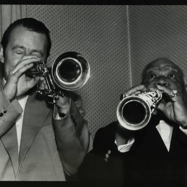 Humphrey Lyttelton and Sidney Bechet (left to right)
