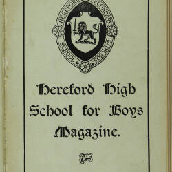 Hereford High School For Boys Magazine Vol 4 No 2_Spring Term 1918
