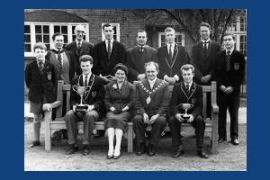 Mitcham County Grammar School for Boys: With Mayor & Mayoress