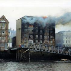 Warehouse Fire at North Shields Ferry Landing