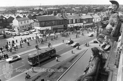 View from Town Hall across Charlotte Terrace, South Shields